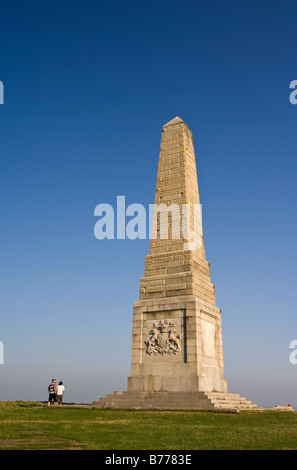 Monument to the Earl of Yarborough on Culver Down. - Stock Photo