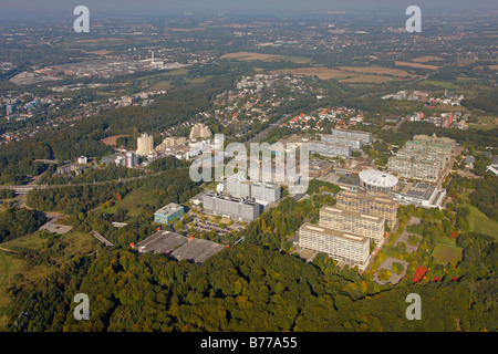 Aerial photograph, Centre for Biomedicine at the RUB, Ruhr University, Bochum, Ruhr district, North Rhine-Westphalia, - Stock Photo