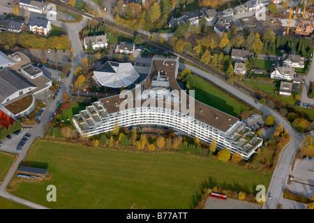Aerial photograph, Hotel Sauerlandstern, Willingen, Sauerland, Hesse, Germany, Europe - Stock Photo