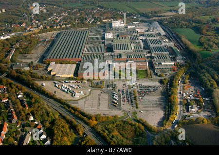 Aerial photograph, Opel Factory 1, Langendreer, General Motors, pause in production, Bochum, Ruhr district, North - Stock Photo
