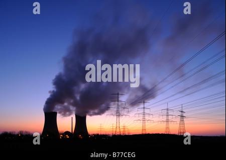 Grafenrheinfeld nuclear power plant, Lower Franconia, Bavaria, Germany, Europe - Stock Photo