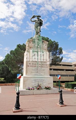 War memorial, Arles, Bouches-du-Rhone, Provence-Alpes-Cote d'Azur, Southern France, France, Europe - Stock Photo