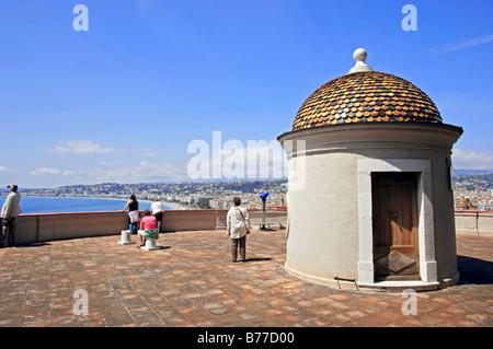 Sentry-box, Tower la Tour Bellanda, Nice, Alpes-Maritimes, Provence-Alpes-Cote d'Azur, Southern France, France, - Stock Photo