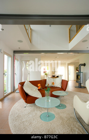 Modernes Wohnzimmer, modern living room - Stock Photo