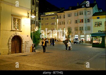 Piazza del Grano, Crown Square, Bolzano, Bozen, Alto Adige, Italy, Europe - Stock Photo