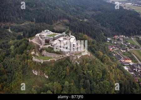 Landskron Fortress near Villach, Carinthia, Austria, Europe - Stock Photo
