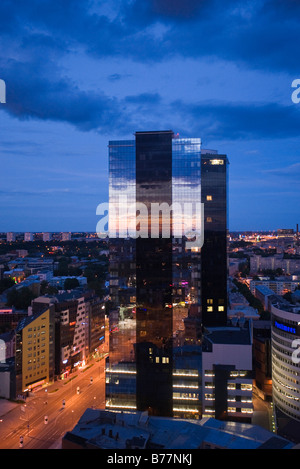 High-rise building in the business district of Tallinn, Estonia, Baltic States, Northeastern Europe - Stock Photo