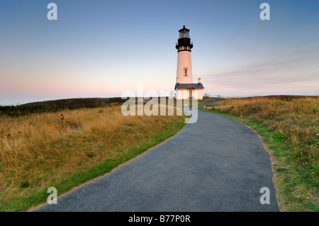 Yaquina Head Lighthouse, tallest lighthouse in Oregon, 28.5 metres, point of interest, Yaquina Head, Oregon, USA, - Stock Photo