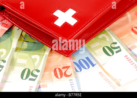 Swiss banknotes - Stock Photo