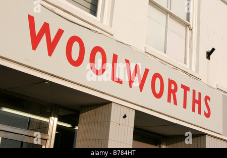 Woolworths shop front in St Ives, Cornwall - Stock Photo