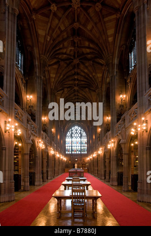 John Rylands Library, Deansgate, Manchester, England - Stock Photo