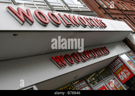 The Swiss Cottage Woolworths Shop frontage on London's Finchley Road - Stock Photo