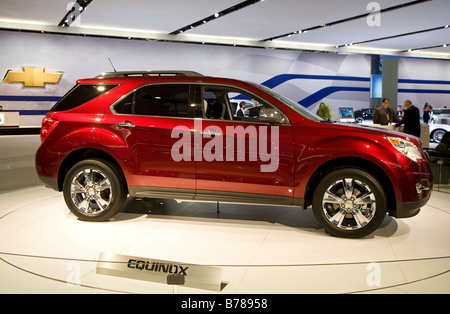 Detroit Michigan The Chevrolet Equinox SUV crossover on display at the North American International Auto Show - Stock Photo