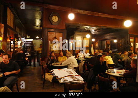 Café Hawelka, interior, Vienna, Austria, Europe - Stock Photo