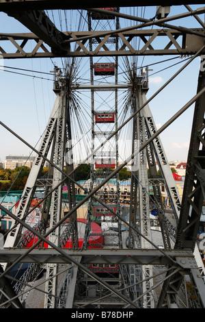 Giant wheel at Prater, Vienna, Austria, Europe - Stock Photo