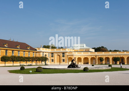 Forecourt in front of Schoenbrunn Palace, Vienna, Austria, Europe - Stock Photo