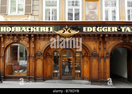 Hofbaeckerei Edegger-Tax in Hofgasse, court bakery, Graz, Styria, Austria, Europe - Stock Photo