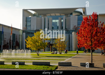 Office of the Federal chancellor, Bezirk Mitte, Berlin, Germany, Europe - Stock Photo