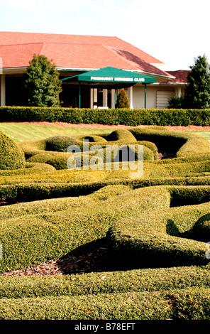 Pinehurst Members Club entrance North Carolina - Stock Photo