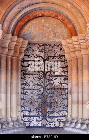 Portal of the minster at Kloster Maulbronn, Maulbronn Abbey, Enzkreis, Baden-Wuerttemberg, Germany, Europe