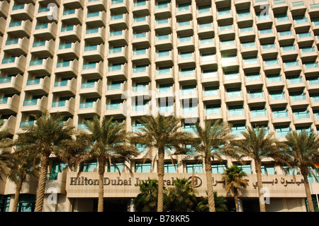 House front, Hilton Dubai Jumeirah, Dubai, United Arab Emirates, Middle East - Stock Photo