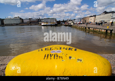 Bollard in the port of Helsinki, Finland, Europe - Stock Photo