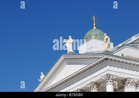 Tuomiokirkko, Helsinki Cathedral, partial view, Helsinki, Finland, Europe - Stock Photo