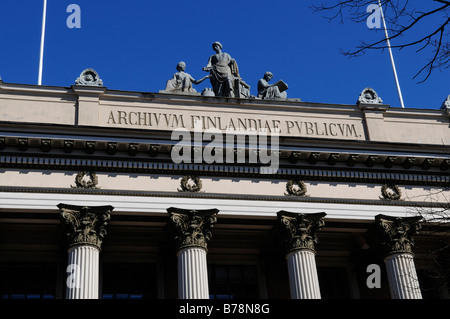 State Library, partial view, Helsinki, Finland, Europe - Stock Photo
