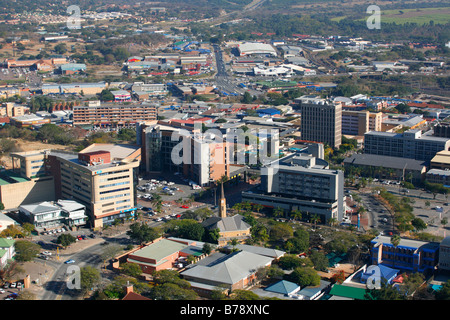 An aerial view of the Nelspruit town centre - Stock Photo