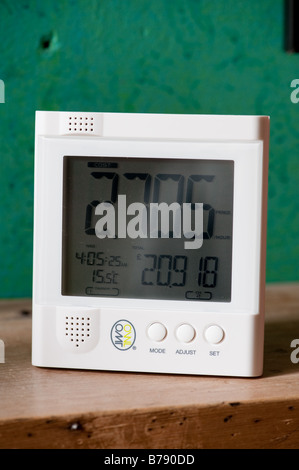 A digital wireless display device for monitoring domestic electricity usage consumption at home UK - Stock Photo