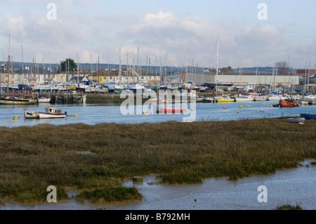 Mud Flats of The River Adur Shoreham West Sussex - Stock Photo