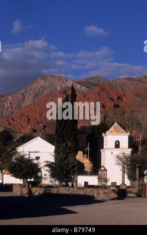 Church of the Holy Cross and St Francis of Paula, Uquia, Argentina - Stock Photo