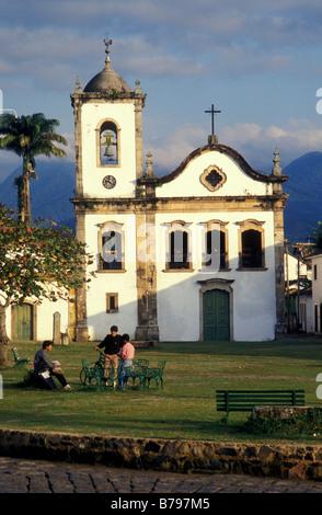 santa rita church parati brazil - Stock Photo