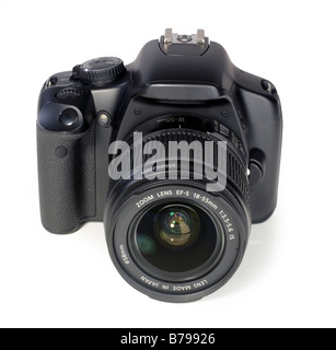Black digital SLR camera single lens reflex lens - Stock Photo