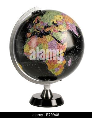 Black World Globe - Stock Photo