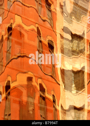 Abstract reflections of buildings - Stock Photo