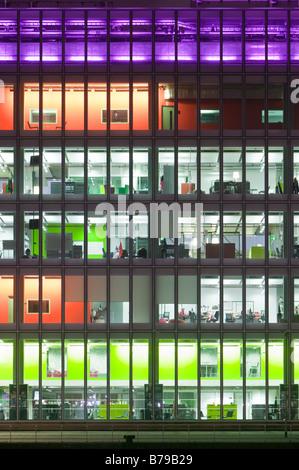 BBC Scotland Headquarters on Pacific Quay Glasgow Scotland UK - Stock Photo