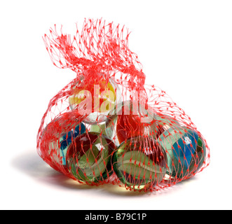 Small bag of glass marbles - Stock Photo