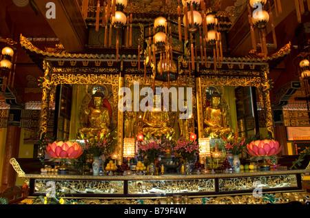 Po Lin Monastery Lantau Island Hong Kong China - Stock Photo