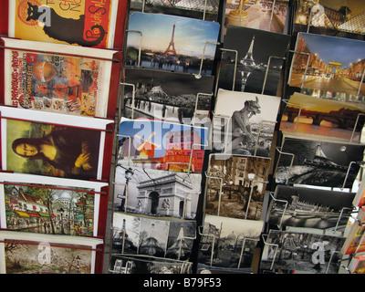Postcards, Paris, France - Stock Photo