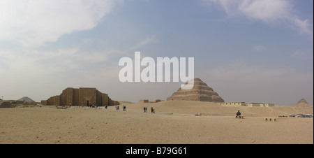 buried city of Sakkara ruins in Egypt - Stock Photo