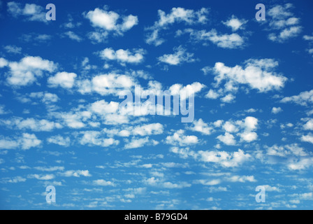Blue sky and many small clouds - Stock Photo