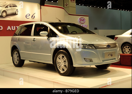 BYD e6 electric car at the 2009 North American International Auto Show in Detroit Michigan USA - Stock Photo
