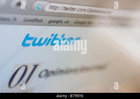 twitter web site internet communciation tool - Stock Photo