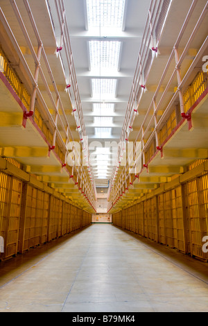 Cells in Alcatraz Penitentiary San Francisco USA - Stock Photo