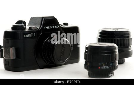 Pentax Auto 110 mini slr camera from 1978 - Stock Photo