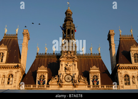 City Hall in Paris, France, Europe - Stock Photo
