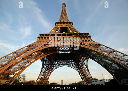 Eiffel Tower in Paris, France, Europe - Stock Photo