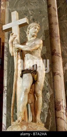 Michelangelo - statue of Christ in Santa Maria sopra Minerva - Rome - Stock Photo