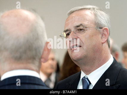 Martin Winterkorn, at right, chief executive of the Volkswagen AG, and Ferdinand K. Piech, chairman of the supervisory - Stock Photo